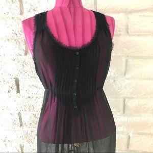 American Eagle Black Sheer Dress Sz 2